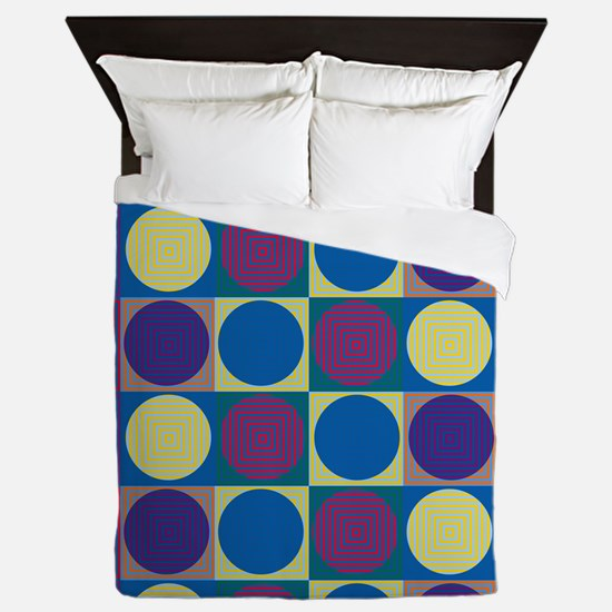 Op Art Pop Art Queen Duvet