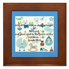 Children Taught Of The Lord Design Framed Tile