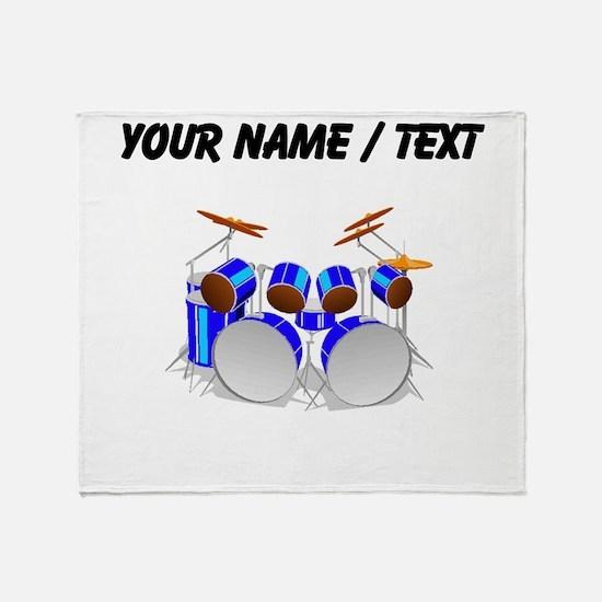 Custom Drum Set Throw Blanket