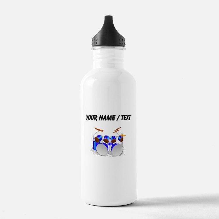 Custom Drum Set Water Bottle