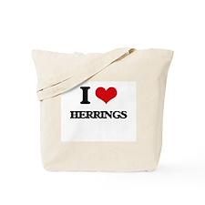 I Love Herrings Tote Bag