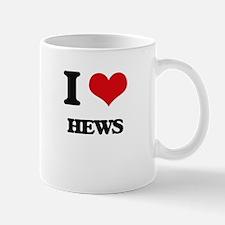 I Love Hews Mugs