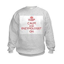 Keep Calm and Enzymologist ON Sweatshirt