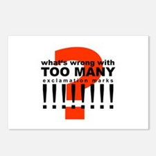 TOO MANY !!!!!!!! Postcards (Package of 8)