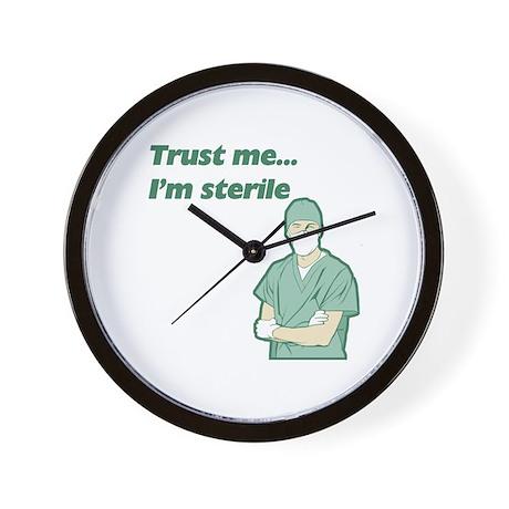 Trust Me I'm Sterile Wall Clock