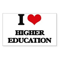I Love Higher Education Decal