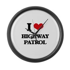 I Love Highway Patrol Large Wall Clock