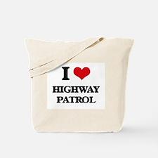 I Love Highway Patrol Tote Bag