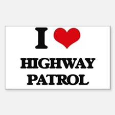 I Love Highway Patrol Decal