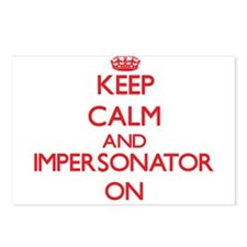 Keep Calm and Impersonato Postcards (Package of 8)