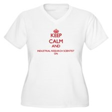 Keep Calm and Industrial Researc Plus Size T-Shirt