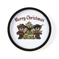 Christmas Bears Wall Clock