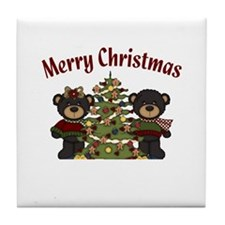Christmas Bears Tile Coaster