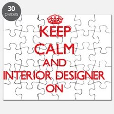 Keep Calm and Interior Designer ON Puzzle