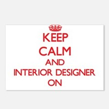 Keep Calm and Interior De Postcards (Package of 8)