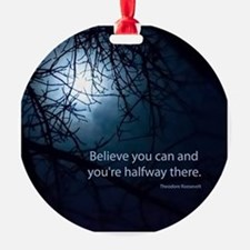 Unique Quotes Round Ornament