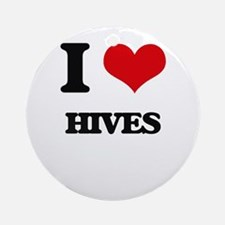 I Love Hives Ornament (Round)