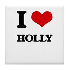 I Love Holly Tile Coaster