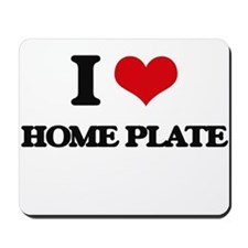 I Love Home Plate Mousepad