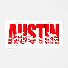 Austin Bats Aluminum License Plate