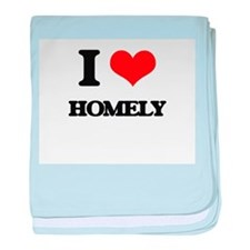 I Love Homely baby blanket