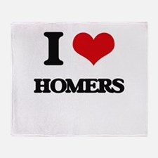 I Love Homers Throw Blanket