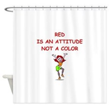Cute Red head pinup girl Shower Curtain