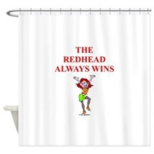Unique Red head pinup girl Shower Curtain