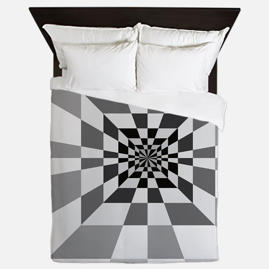 Op Art Hall Queen Duvet
