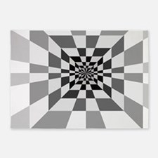 Op Art Hall 5'x7'Area Rug