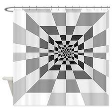 Op Art Hall Shower Curtain