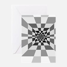 Op Art Hall Greeting Cards