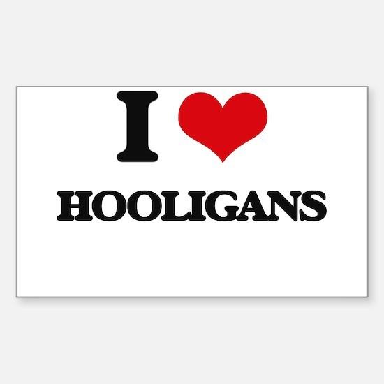I Love Hooligans Decal