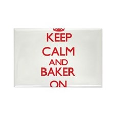 Keep Calm and Baker ON Magnets