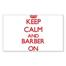 Keep Calm and Barber ON Decal
