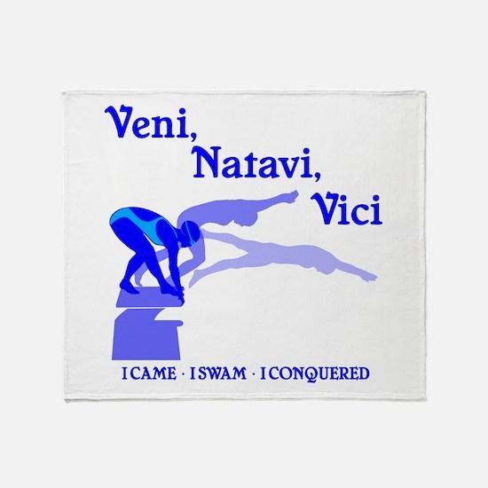 VENI-NATAVI-VICI Throw Blanket
