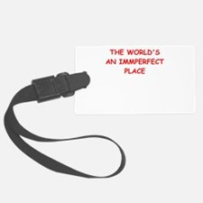 imperfect Luggage Tag