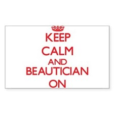 Keep Calm and Beautician ON Decal