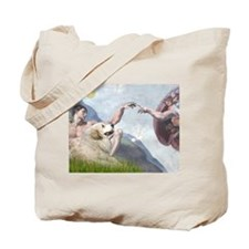 Creation & Great Pyrenees Tote Bag