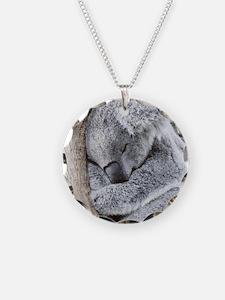 Sleeping Koala baby Necklace