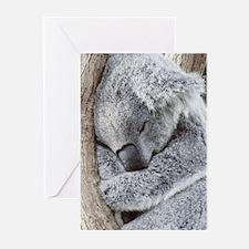 Sleeping Koala baby Greeting Cards