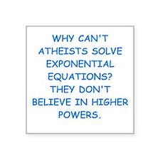 atheist math Sticker