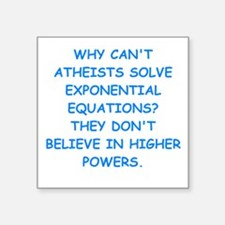 atheist math Sticker