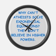 atheist math Large Wall Clock