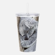 Sleeping Koala baby Acrylic Double-wall Tumbler
