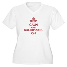 Keep Calm and Boilermaker ON Plus Size T-Shirt