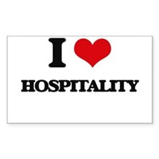 I Love Hospitality Decal