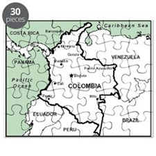 Mapa De Colombia Puzzle