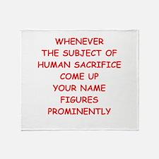 human sacrifice Throw Blanket