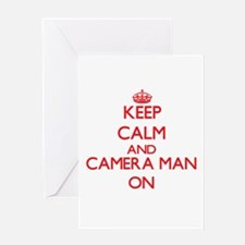 Keep Calm and Camera Man ON Greeting Cards